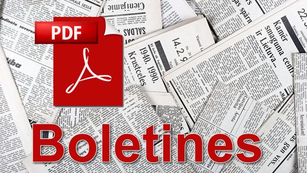 Boletínes y noticias